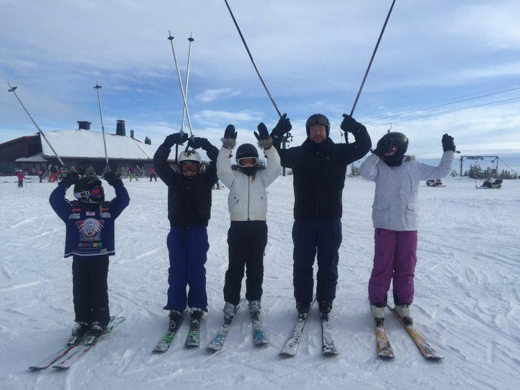 Lite skidor innan hemfärd